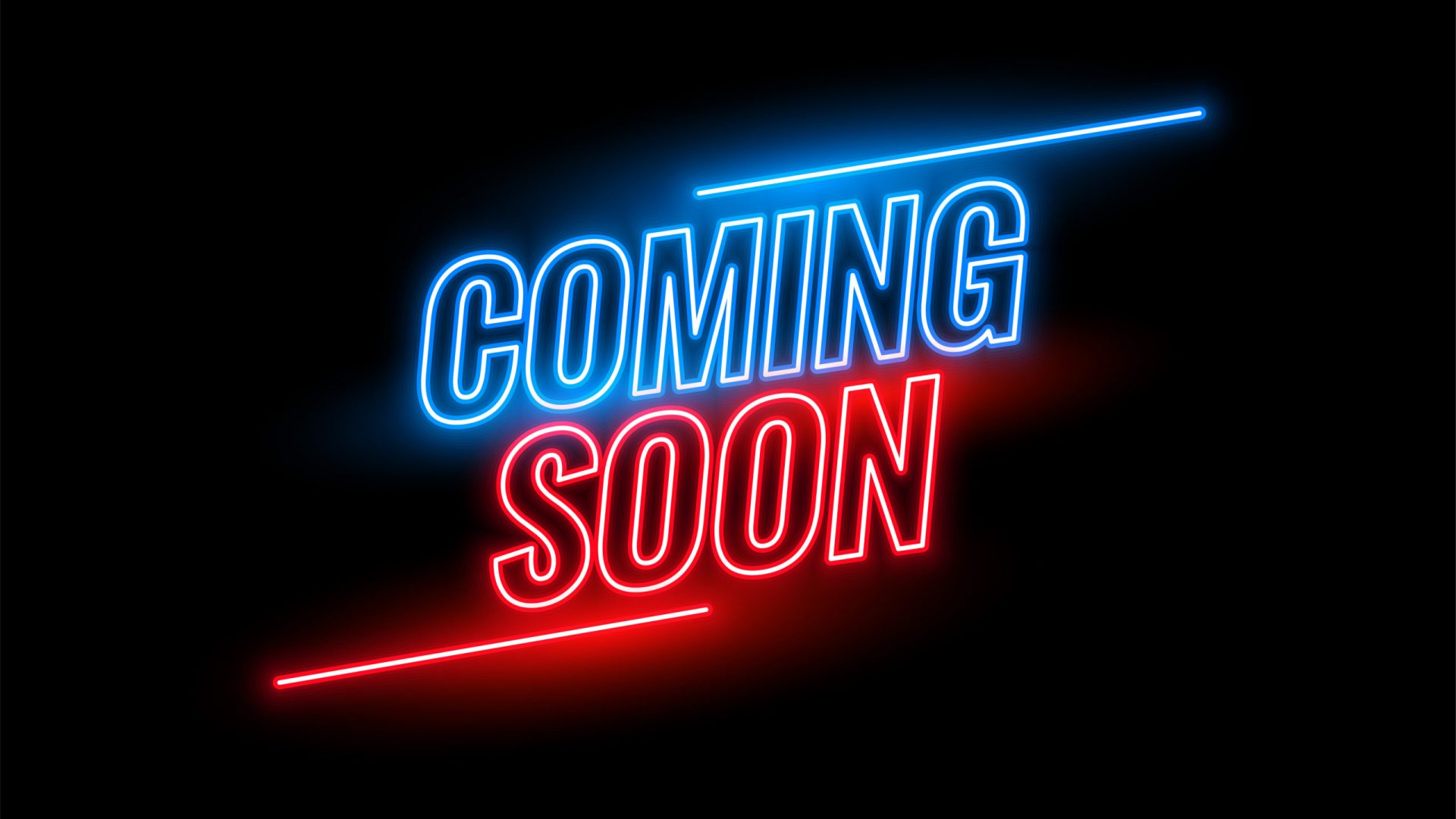 neon style coming soon glowing background design